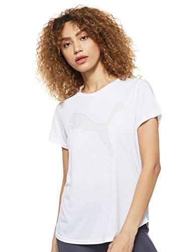 PUMA Damen T-shirt, Puma White, S