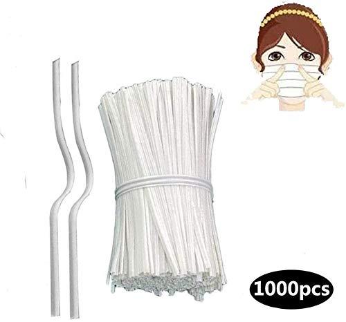 100 pezzi 10 cm di regolazione del naso ponte filo (include un portachiavi in acciaio inox),...