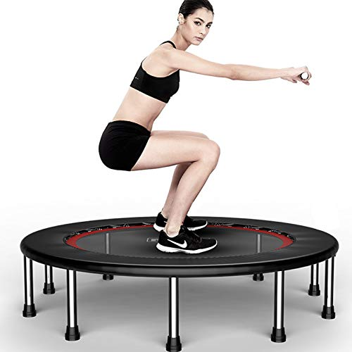 TXTC 40inch Foldable Mini Trampoline,Fitness Trampoline With Trampoline Bag,Stable & Quiet Exercise Rebounder For Kids Adults Indoor,Workout Max 440lbs (Color : D-50inch)