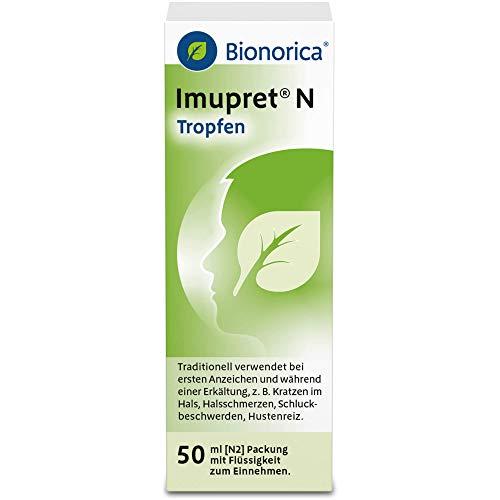 Imupret N Tropfen bei ersten Anzeichen und während einer Erkältung, 50 ml Lösung