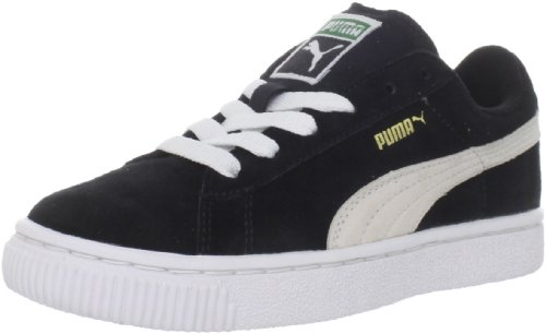 PUMA Suede Classic Sneaker (Toddler/Little Kid/Big Kid) , Black/White, 6 M US Toddler