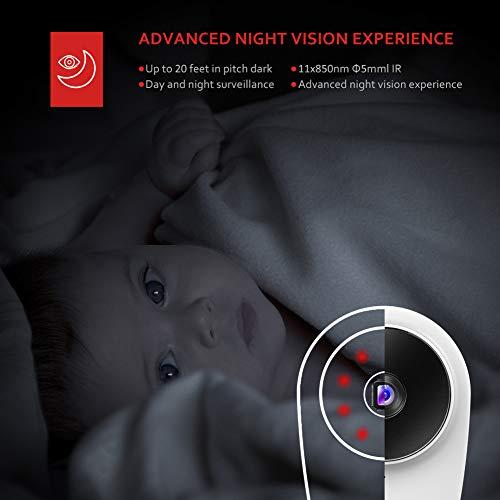 Victure 1080P 4 Stück Überwachungskamera System WLAN Set für Innen, WLAN IP Kamera mit Nachtsicht, Bewegungserkennung, 2-Wege-Audio Kompatibel mit IOS/Android APP, die mit Alexa Funktioniert