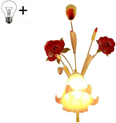 Luces de pared / Elegante de cristal LED de pared de luz, Pared rústica lámpara de interior Luces Decoración, Diseño floral, rojo, amarillo, verde, titular de la lámpara E14, for sala de estar dormito