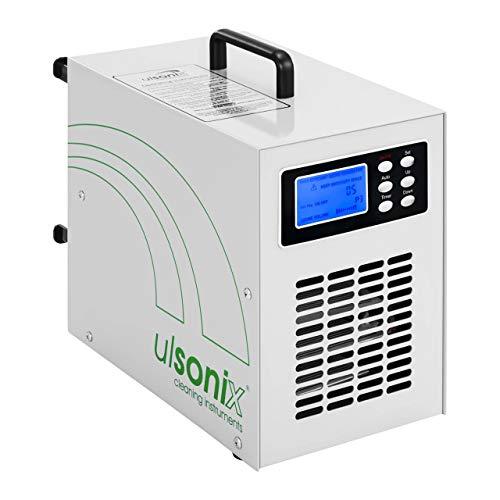Ulsonix Generador de ozono profesional AIRCLEAN 7G Purificador aire Ozonizador Maquina de ozono 7000 mg/h, 98 W, Temporizador, Mando a distancia incl, Blanco