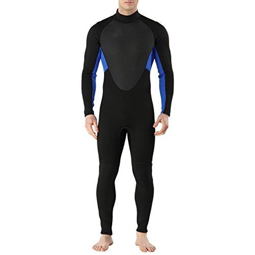 Sidiou Group 3MM Tauchanzug Männer Neoprenanzug Ganzkörper Neoprenanzug Kälteschutzanzug Haut Badeanzug zum Schwimmen Tauchen Surfen (2, XXL)
