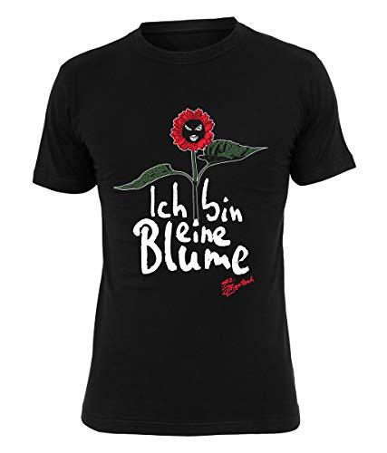 Alligatoah T-Shirt Ich Bin eine Blume, Farbe:schwarz, Größe:XL