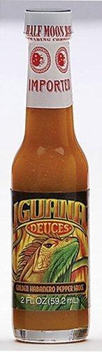 Iguana Deuces Golden Habanero Pepper Sauce, 2 oz