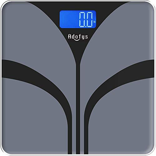 ADOFYS A-07G Digital Personal Weighing Scale with Temperature Power Display, Capacity 180kg/396lb