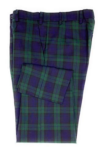 Herren-Golfhose mit Schottenkaro, Schwarz Gr. 30W x 31L, grün