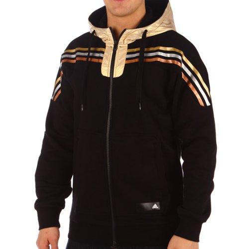 adidas Seasonal Favorites olímpico Sudadera con Capucha Schwarz W53365tamaño: 48EUR/50| Nosotros M | sportgröße 6/7