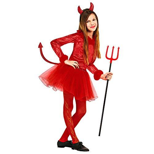 WIDMANN Disfraz de demonio para niña , color/modelo surtido