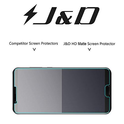 J&D Kompatibel für 8er Packung Huawei Honor View 10 Displayschutzfolie, [Antireflektierend] [Nicht Ganze Deckung] Hochwertige Matte Folie Schutzschild Displayschutzfolie für Huawei Honor View 10 - 4