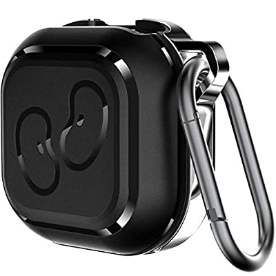 KINGRUNNING for Galaxy Buds Live Case Cover, 2020 Full Protection Shockproof TPU and Alloy Case with Carabiner Compatible for Samsung Galaxy Buds Live Earbuds Charging Case Accessories