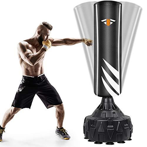 Boxsack StandboxsäckeTrainingsgeräte Erwachsene Freistehender Standboxsack MMA Boxpartner Boxing Trainer Heavy Duty Boxsack mit Saugfuß, Punchingsäcke für Anfänger, Profis, Erwachsene, Jugendliche