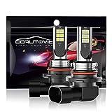 CCAUTOVIE Bombilla LED Antiniebla Coche HB4/9006 para Luces Antiniebla Circulación Diurna DRL 60W 6000K Blanco