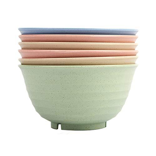 6 Pcs Unbreakable Cereal Bowl Sets. for Soup,Dessert and Salad - Easy Dishwasher Safe(6.7 inch) Cereal Bowls