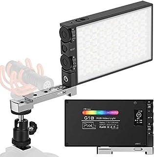 PIXEL RGBビデオライト撮影ライト オンライン会議ウェブ会議用 Type-C充電 ポケットサイズ 汎用ホットシュー 2500K-8500K 日本語説明書 動画撮影、生放送、ライブ、YouTube、自撮り、ビデオチャット、ビデオ録画