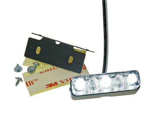 Mini LED Kennzeichenbeleuchtung Micro Motorrad PKW Roller KFZ Anhänger Quad Auto