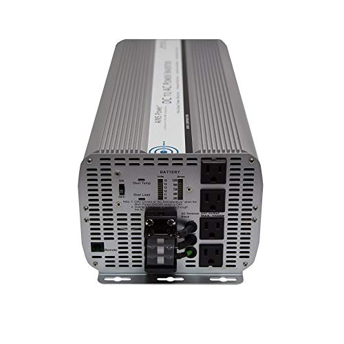 AIMS Power 10000 Watt Modified Sine Power Inverter 12Volt DC to 120 Volt AC with GFCI Outlets and AC Terminal Block