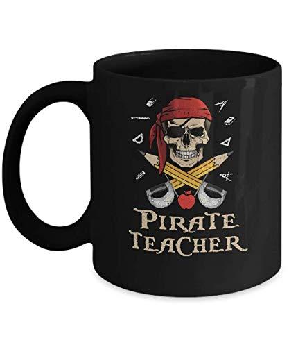 N\A Funny Pirate Maestro Halloween Skull Taza DE Regalo para Adultos 11.oz