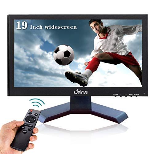 Anchura 19 pulgadas IPS Monitor LCD Cámara de Seguridad Oficina PC Móvil Monitor 1440x900 Full HD Multifuncional Gaming Monitor HDMI BNC VGA AV USB Cámara de Vigilancia con Soporte
