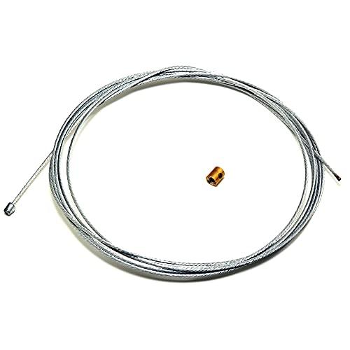 Easyboost Cable De Gas Acelerador 2,50 Metros Ø1,2mm Universal con Escañacables de Gas para Carburador para Scooter 50cc Moto