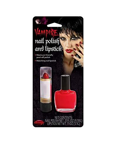 Horror-Shop Vernis à ongles rouge et le rouge à lèvres