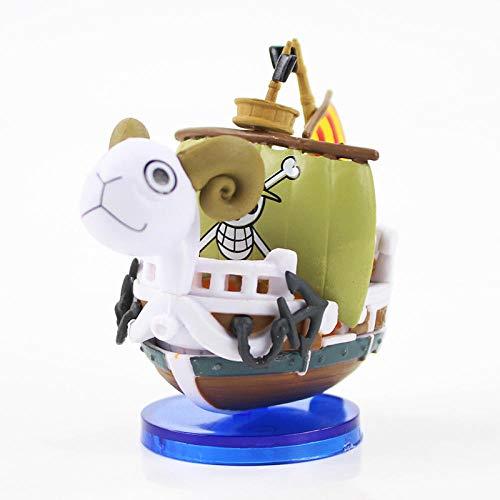 brandless 2 Estilos 7 Anime One Piece Mini Mile Sunny Go Merry Barco Pirata Barco Modelo PVC Figura de acción Colección Juguetes Muñeca-Yendo Feliz