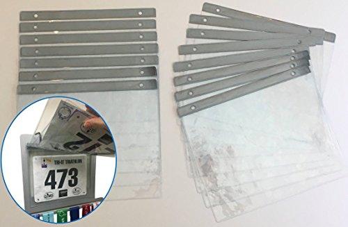 RunFix 15 Sheet Pack - Clear Vinyl Bib Holder Sleeves Medal Displays and Hangers