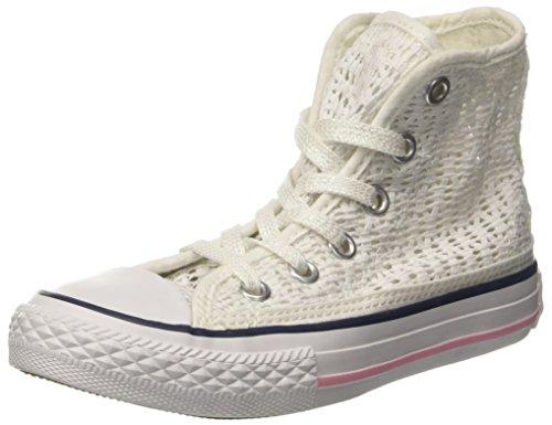 Converse Zapatillas Abotinadas All Star Hi Tiny Crochet Blanco/Rosa EU 28