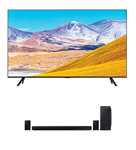 """Samsung UN65TU8000 65"""" 8 Series Ultra High Definition Smart 4K Crystal TV with a Samsung HW-Q950T 9.1.4 Channel Soundbar with Dolby Atmos and DTS:X (2020)"""