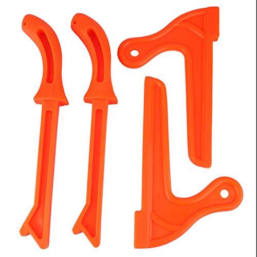 4 pièces sécurité en plastique travail du bois de protection scie à main bâtons de poussée outil pour la menuiserie, bâtons de poussée bâtons de sécurité(Orange)
