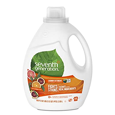 Seventh Generation Liquid Laundry Detergent, Fresh Citrus Scent, 100 oz (66 Loads)