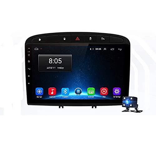 Android 10.0 coche estéreo 2 Din Radio Sat Nav para PEUGEOT 308 308S 408 2012-2020 navegación GPS pantalla táctil MP5 reproductor multimedia video receptor con 4G/5G WiFi Carplay
