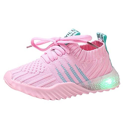 Allence LED Leuchtende Baby Mädchen und Jungen Kleinkind Mode Stern Leuchtendes Kind Bunte helle Schuhe Kinder Schuhe mit Licht Blinkende Turnschuhe für Kinder