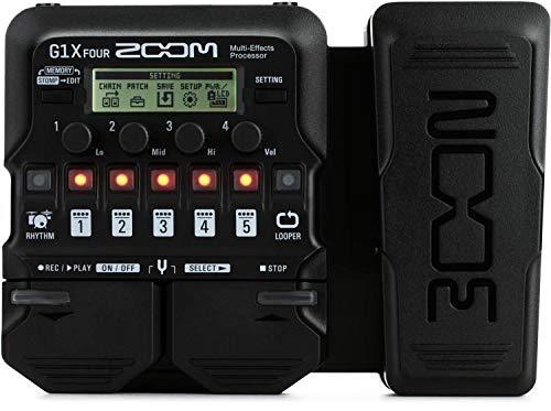 Zoom G1X FOUR - Pedal de efectos para guitarra con pedal de