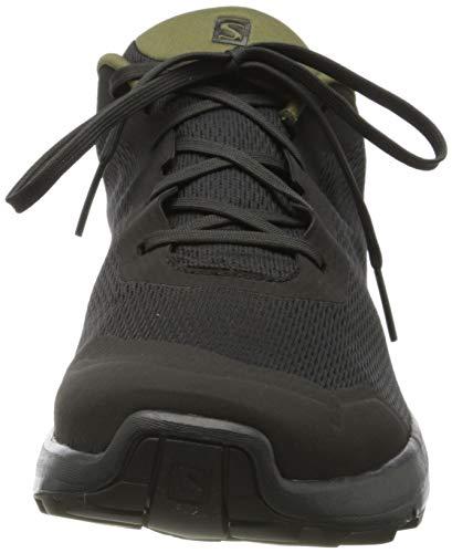 Salomon X Reveal GTX Zapatillas De Senderismo para Hombre, Gris/Verde (Phantom/Burnt Olive/Black), 48 EU
