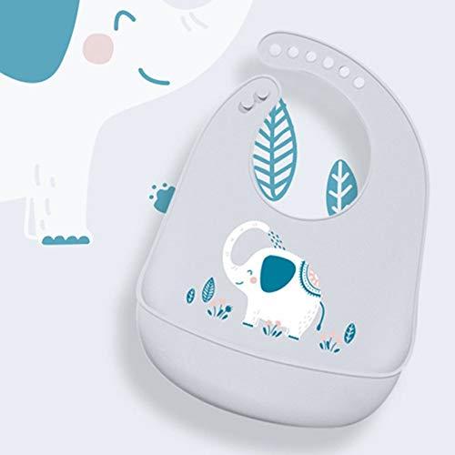 YITEJIA Leuke patroon Silicone Waterdichte Baby Bibs voor het voeden van voedsel Zachte Verstelbare Burp Doek Baby Stuff Bandana Bib Leuke Cartoon Olifant Baby Bib