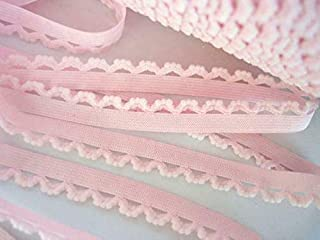 10 yards Elastic Scallop Plush Dots Trim//Sewing//Craft//Notion//Lace T30-Baby Blue