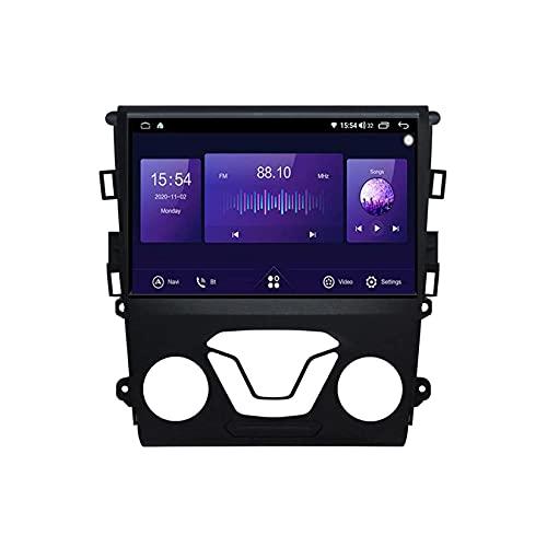 Android 10.0 Sat Nav Car Stereo 2 Din Radio para F-Ord Mondeo 5 2014-2019 Navegación GPS 9'' Pantalla táctil MP5 Multimedia Player Receptor de vídeo con 4G/5G WiFi Carplay