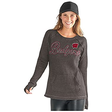 NCAA Wisconsin Badgers Women's Off Season Pull Over, Small, Charcoal Grey