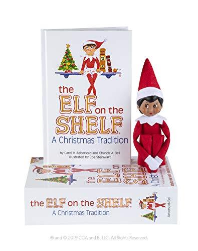 The Elf on the Shelf® Christmas Tradition - Girl Dark Skin & Brown Eyes