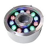 NiceCore Lámpara de luz LED Ligera Sumergible Piscina Piscina bajo el Agua Pond Paisaje Luz RGB Colorido 12W Luces de Cuerda Exterior