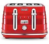 De'Longhi CTA4003R Avvolta 4 Slice Toaster - Red