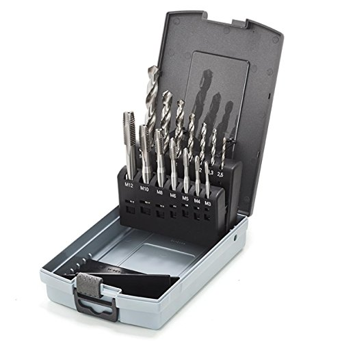 Lot de 3 Th/ürmer outils Standard Filetage de coupe en acier rapide tarauds /à main M13