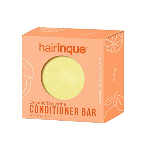 Allouli Organic Hair Conditioner Handmade Soap Vitamin C Hair Shampoo Bar Hair Refreshing Soft Strong and Elastic (Orange, Carton)