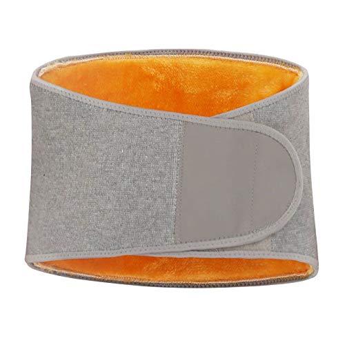 Amagogo Hombres Mujeres Espesar Cinturón de Soporte de Cintura de Felpa Cálido Abdominal Body Band Back - M 100x20cm