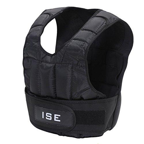 ISE Gilet lesté réglable de 5kg 10kg 15kg 20kg 25kg 30kg Poids Gilets pour Poids Entrainement Musculation Exercice SY3002 (5)