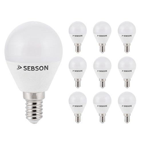 SEBSON® LED Lampe E14 Tropfen 6W warmweiß 3000k, ersetzt 35W, 400lm, Ra97, 230V LED Leuchtmittel flimmerfrei, E14 Birne P45, 10er Pack