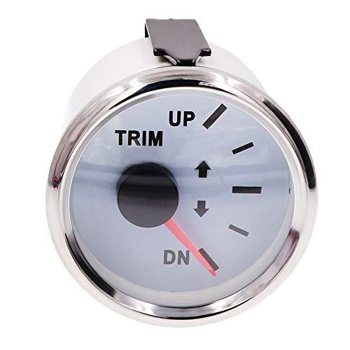 No-branded Odometer Spur 52mm Trim Meter Gleichgewicht Gauges wasserdichte LCD Trimmmesser for Boot Auto Motor Parts ZHQHYQHHX (Color : Weiß, Size : Kostenlos)
